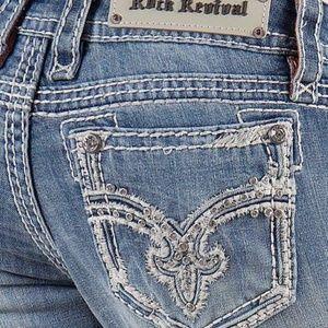 Rock Revival blingy pocket size 23 skinny boot